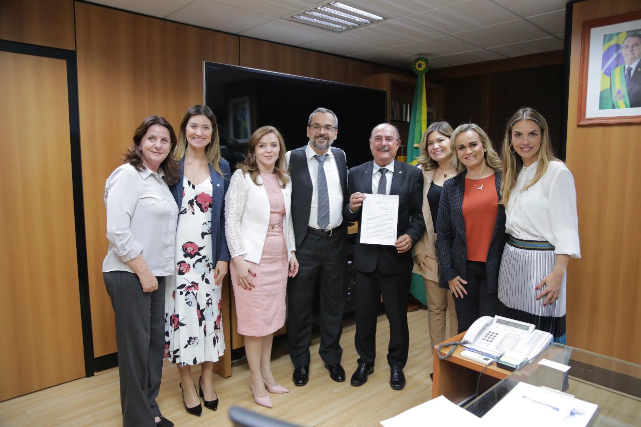 Em novo encontro com ministro da Educação, Paula Belmonte dá destaque à primeira infância