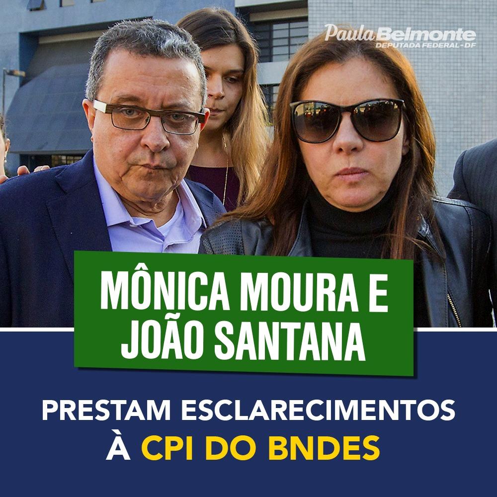 CPI do BNDES ouve publicitários João Santana e Mônica Moura