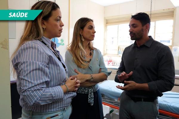 Paula Belmonte faz blitz em hospitais do DF