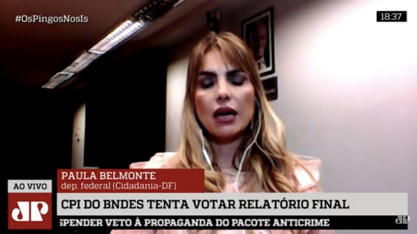 AO VIVO: Paula Belmonte fala sobre a CPI do BNDES no programa Os Pingos nos Is