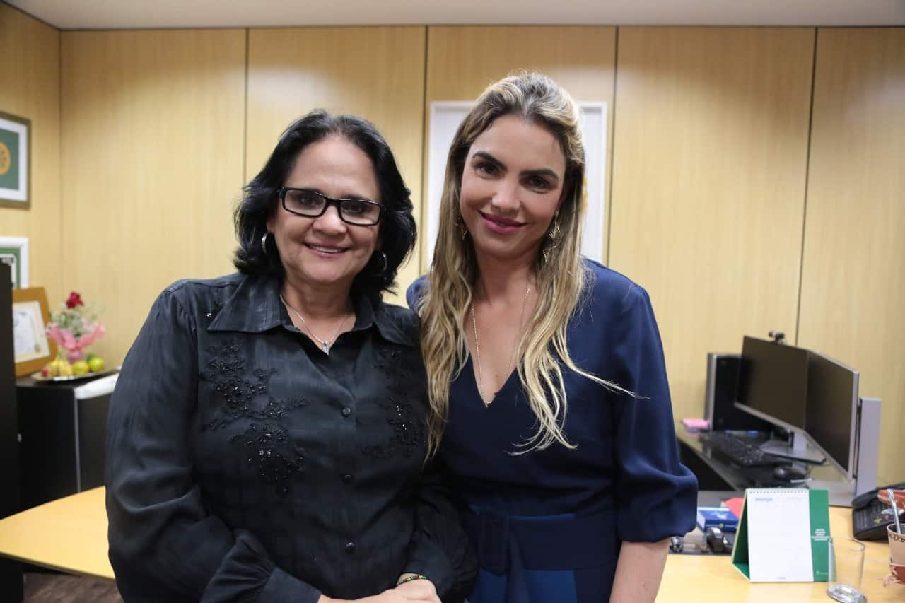 Paula Belmonte pede à Damares melhorias aos conselhos tutelares do DF e do Entorno