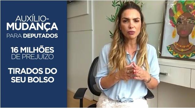 Paula Belmonte pede fim do auxílio mudança na Câmara dos Deputados