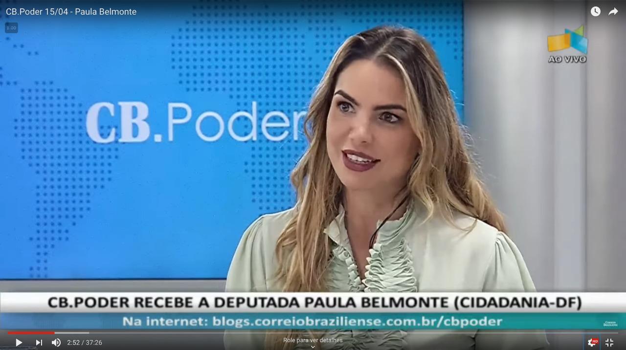 Paula Belmonte é entrevistada pelo Correio Braziliense
