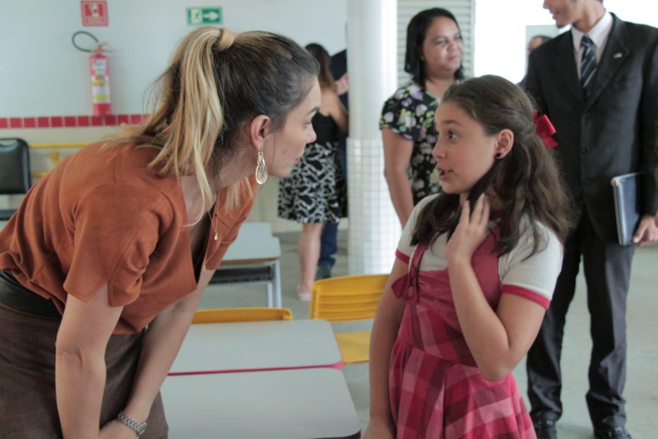 Estudantes aceitam desafio de Paula Belmonte e vão sugerir projetos de lei