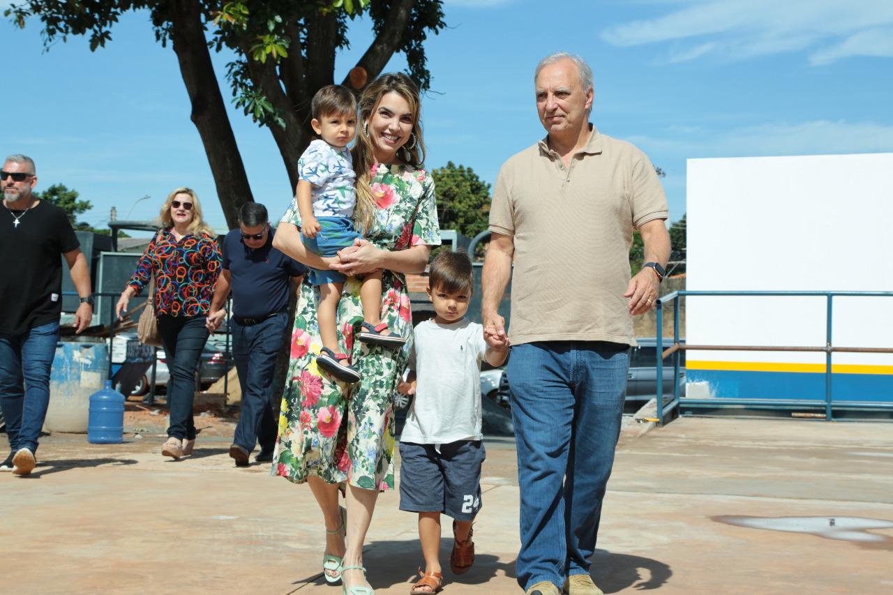Na Vila Planalto, Paula Belmonte reforça a importância do esporte