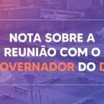Nota sobre a reunião da deputada federal Paula Belmonte com o governador Ibaneis Rocha